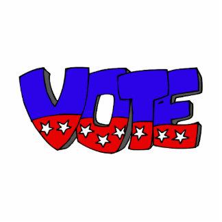 Vote Bubble Letters Standing Photo Sculpture