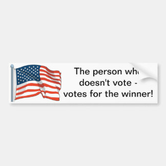 Vote Car Bumper Sticker