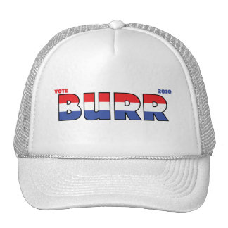 Vote Burr 2010 Elections Red White and Blue Trucker Hat