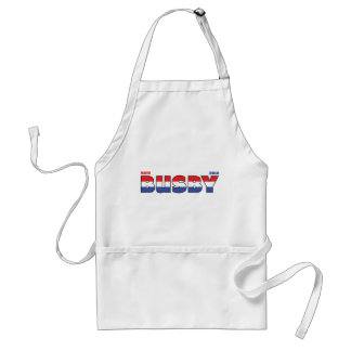 Vote Busby 2010 Elections Red White and Blue Adult Apron