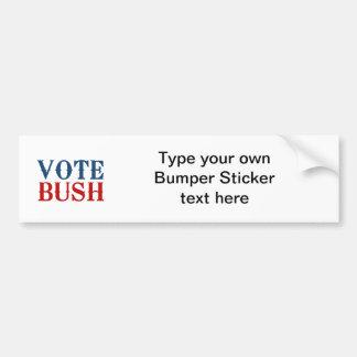 VOTE BUSH 2012 CAR BUMPER STICKER