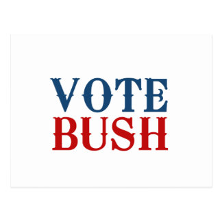VOTE BUSH 2012 POSTCARD