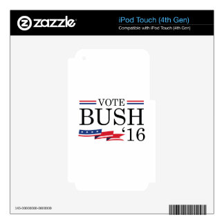 Vote Bush 2016 iPod Touch 4G Decal
