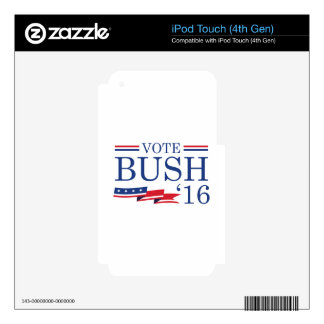 Vote Bush 2016 iPod Touch 4G Skins