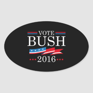 Vote Bush 2016 Oval Sticker