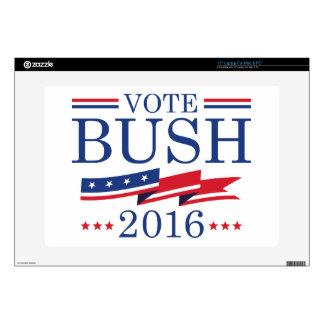 """Vote Bush 2016 Skin For 15"""" Laptop"""