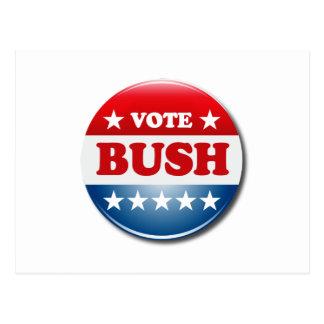 VOTE BUSH POSTCARD