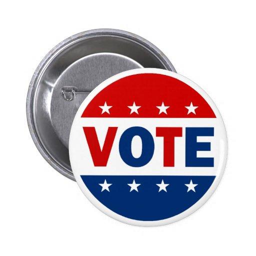 VOTE PINBACK BUTTON