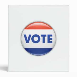Vote Button 3 Ring Binders