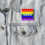 "Vote Button on Rainbow Background<br><div class=""desc"">Are you limited in your political speech by your workplace? Use this button to urge everyone to come out and vote! This button is good for all election types and cycles. Get out the vote!</div>"
