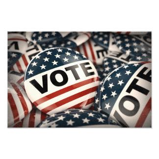Vote Button Photo Print