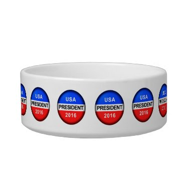 USA Themed Vote Button President Bowl