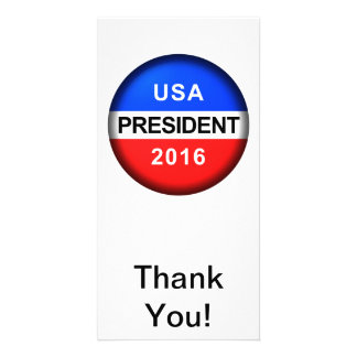 Vote Button President Card