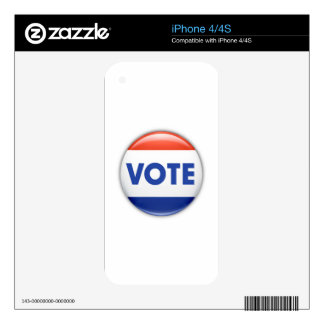 Vote Button Decal For The iPhone 4