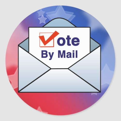 Vote By Mail Classic Round Sticker