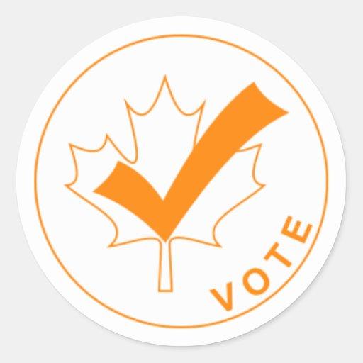 VOTE Canada Stickers - Orange