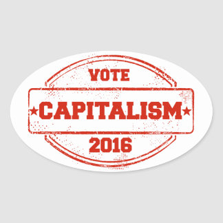 Vote Capitalism Sticker