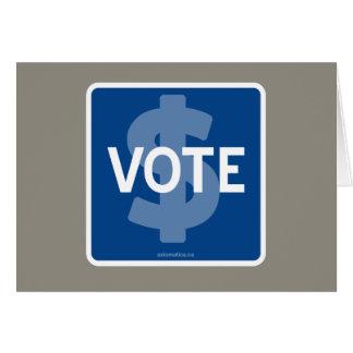 $ VOTE CARD