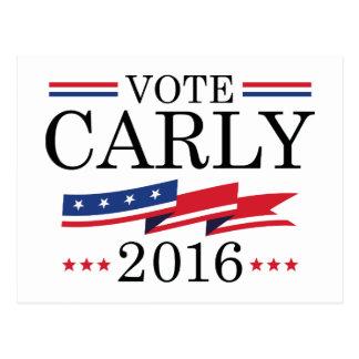 Vote Carly 2016 Postcard