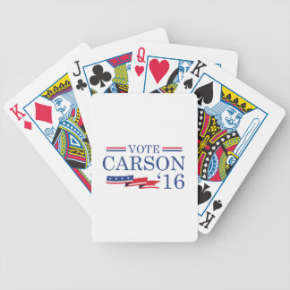 Vote Carson 2016 Bicycle Playing Cards