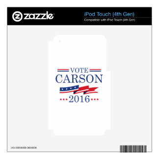 Vote Carson 2016 Decal For iPod Touch 4G
