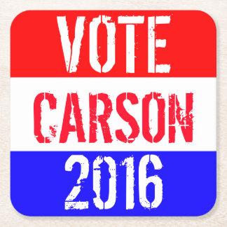 Vote Carson 2016 Square Paper Coaster