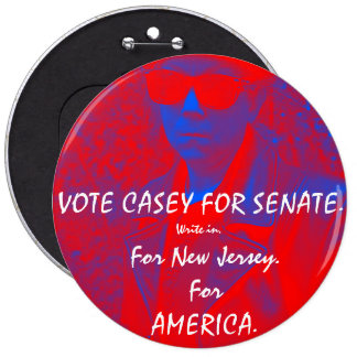 VOTE CASEY FOR SENATE.  How bad could it be? Pinback Button