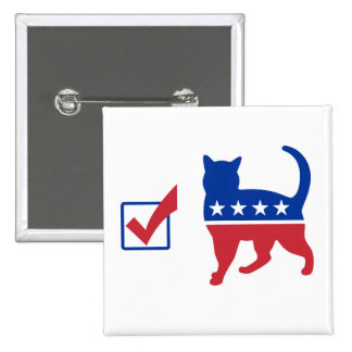 Vote Cat Pin