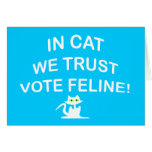 Vote Cat with White Text Cards