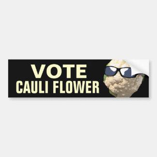 Vote Cauli Flower Bumper Sticker