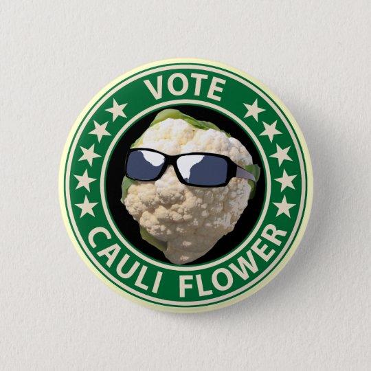 Vote Cauli Flower Pinback Button