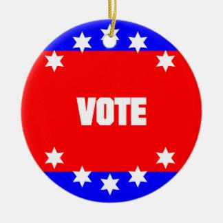 Vote Ceramic Ornament