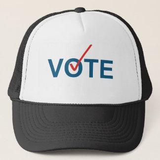Vote Checkmark Red Blue Election Trucker Hat