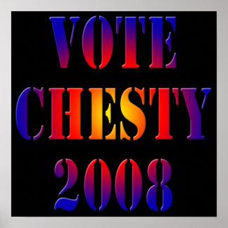 Vote Chesty 2008 Poster