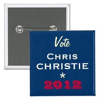 Vote Chris CHRISTIE 2012 Campaign Button (Square)