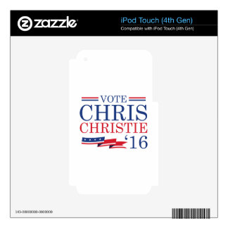 Vote Chris Christie Decals For iPod Touch 4G