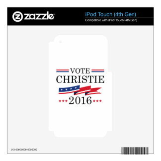 Vote Chris Christie iPod Touch 4G Skins
