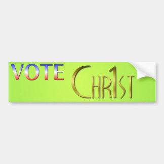 Vote Christ First Bumper Sticker
