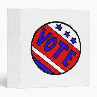 Vote Circle 3 Ring Binders