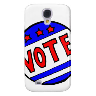 VOTE circle seal with stars and stripes red blue Samsung Galaxy S4 Covers