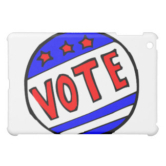 VOTE circle seal with stars and stripes red blue Cover For The iPad Mini