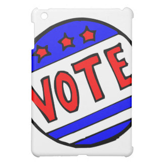 VOTE circle seal with stars and stripes red blue iPad Mini Case