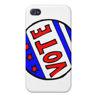 VOTE circle seal with stars and stripes red blue iPhone 4 Covers