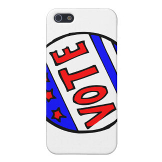VOTE circle seal with stars and stripes red blue Cases For iPhone 5