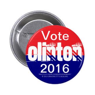 Vote Clinton 2016 Pinback Button