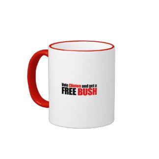 Vote Clinton and get a Free Bush Mugs