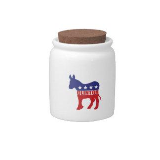 Vote Clinton Democrat Candy Jars