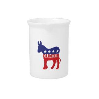 Vote Clinton Democrat Drink Pitcher