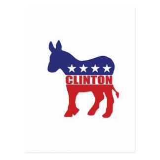 Vote Clinton Democrat Postcard