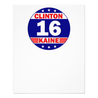 Vote Clinton Kaine 2016 Flyer